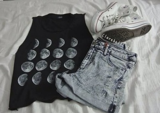 tank top black tank top brandy melville i love you to the moon and back sweatshirt