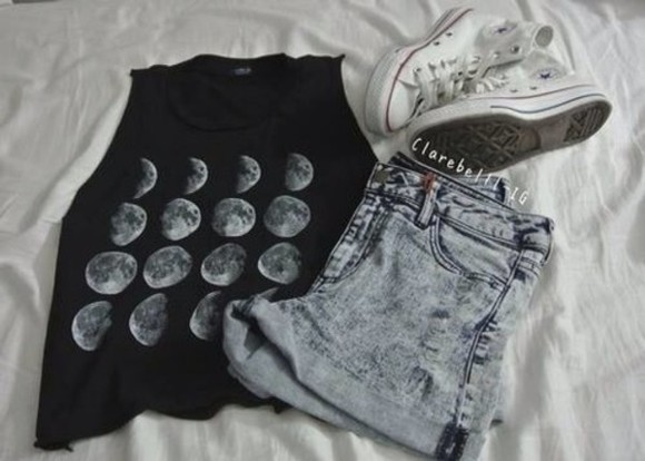 tank top black tank top brandy melville, moon, tank top, top i love you to the moon and back sweatshirt