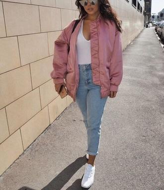 jacket pinkjacket pink baseball jacket cute light pink jacket pink bomber jacket bomber jacket pink jacket