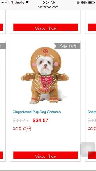 jumpsuit dog costume halloween costume cute gingerbread