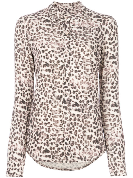 Majestic Filatures blouse women spandex animal nude cotton print animal print top