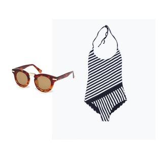the fashion eaters blogger sunglasses swimwear