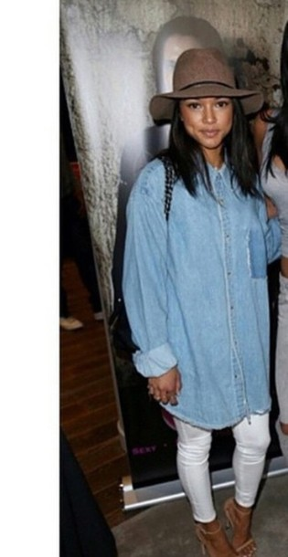shirt denim karrueche