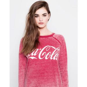 Pull & Bear Coca-Cola Sweatshirt - Pull&Bear - Polyvore