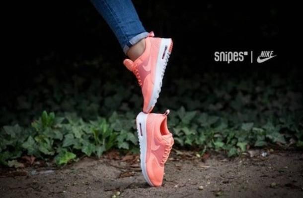 shoes peach pink nike nike shoes nike air nike air max thea trainers nike air force air max nikes air max nike air max thea