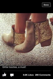 shoes,glitter,boots,glittery boots,glittery shoes,brown boots,cowboy boots,booties,beige,gold