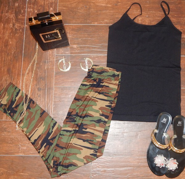 leggings camouflage camo pants