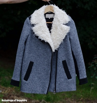 coat jacket fur white white fur fluffy faux fur grey winter outfits