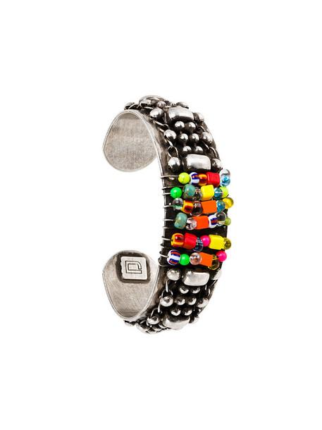 dannijo cuff metal women beaded cuff bracelet grey metallic jewels