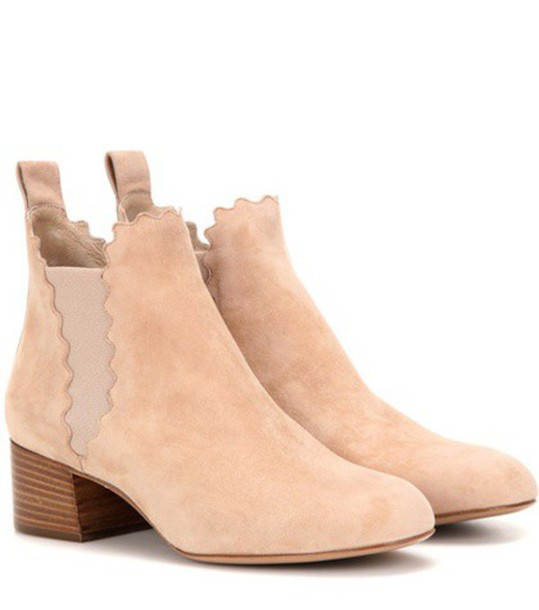 Chloe suede ankle boots boots ankle boots suede shoes