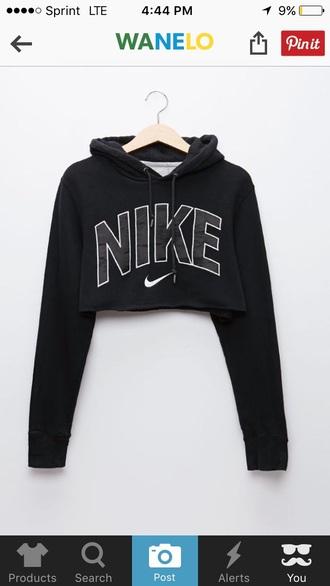sweater nike crop nike black black sweater cropped sweater cropped hoodie nike sweater