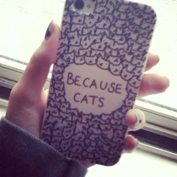 jewels i phone i phone case cats white black cute