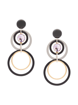 women earrings pendant black jewels