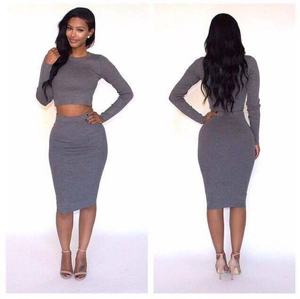Two Piece Sweater Dress