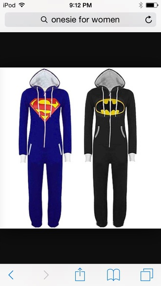 pajamas superman batman onsies