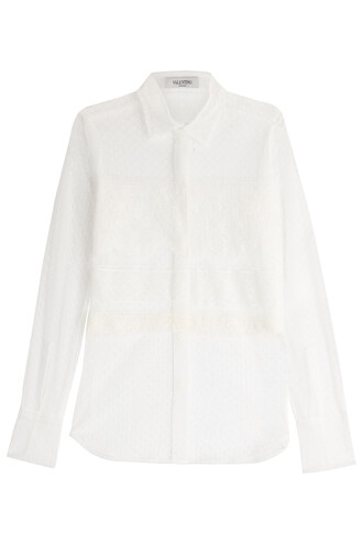 shirt lace white top