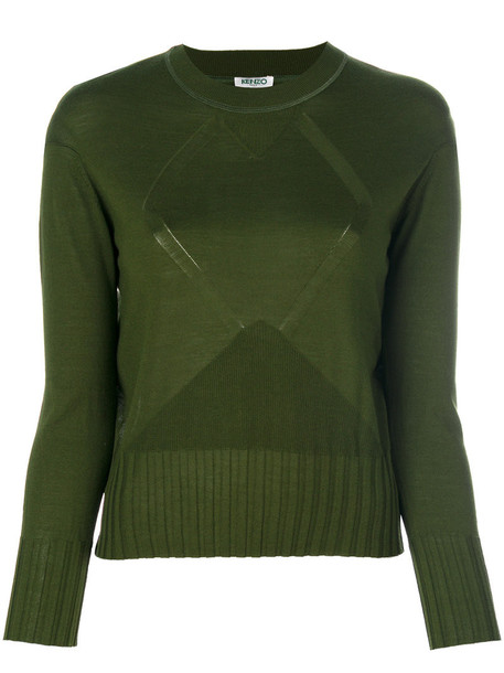 Kenzo sweater women silk wool green