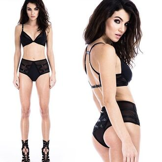 underwear lingerie style fashion black lingerie black underwear black sexy bra bralette black bra panties top black top pants sexy lingerie outfit clothes women girl date outfit gift ideas rock indie instagram black outfit wolf