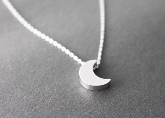 Moon necklace // gold