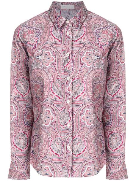 Etro - printed buttoned shirt - women - Cotton/Spandex/Elastane - 42, Pink/Purple, Cotton/Spandex/Elastane