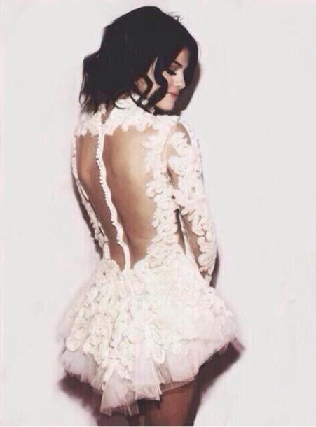 dress selena gomez white white dress red carpet