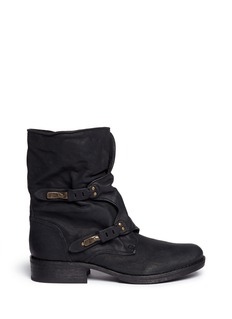 'ridge' latch strap leather boots