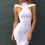 White Off Shoulder Bodycon Maxi Dress on Storenvy
