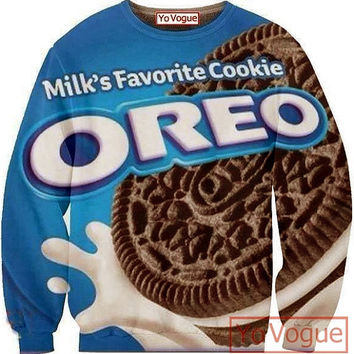 3D Oreo Cookiesjumper, all over printing sweatshirt, sublimation sweaters. on Wanelo