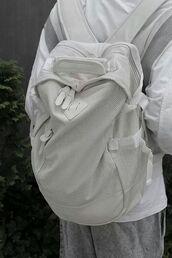 bag,hershel,sadboys 2001,white backpack,white,herschelbackpack,herschel supply co.,mesh,mesh bag,mesh backpack,leather,white bag,backpack