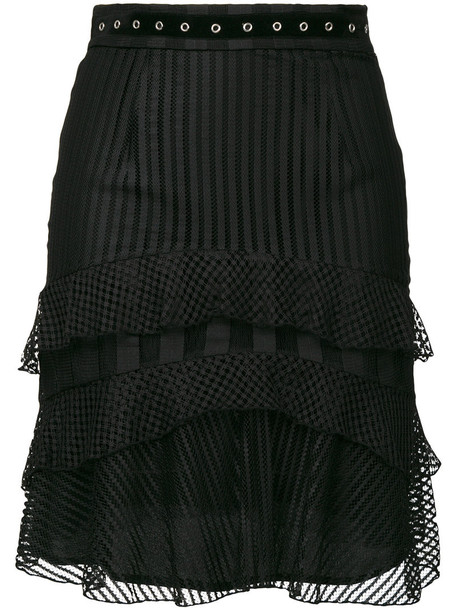 just cavalli skirt women black