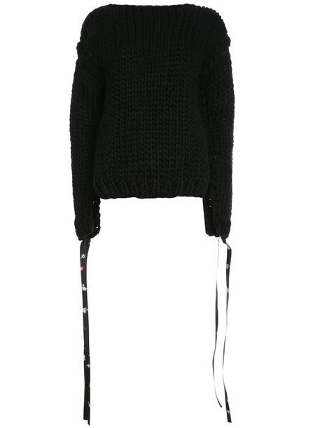 Paskal jumper long women black wool sweater