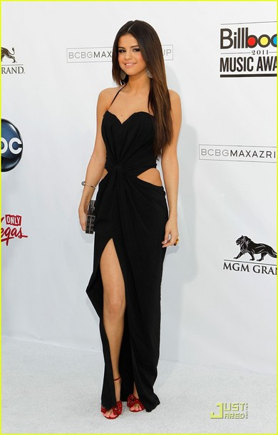 dress black dress maxi dress selena gomez prom dress sexy dress long black dress black long dresses celebrity celebrity style dress long prom dress long prom dress prom celebrity style black prom dress gown billboard music awards selena gomez dress