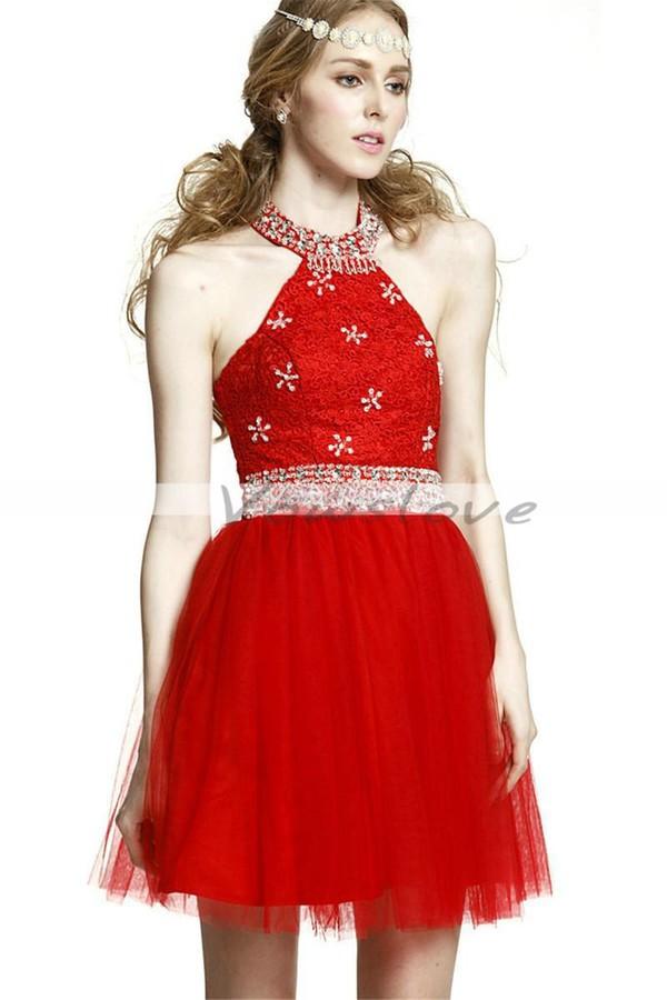 Dress: red dress, short red dress, christmas dress ...
