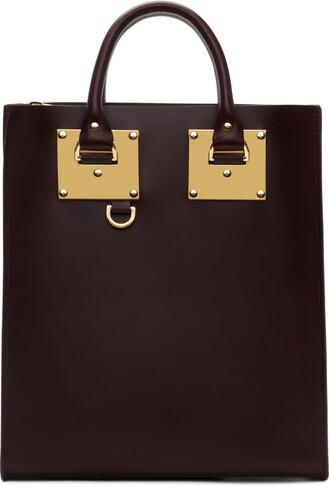 mini burgundy bag