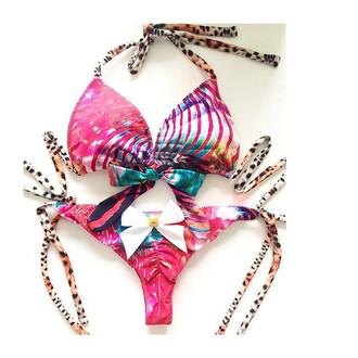 swimwear animal print bikini