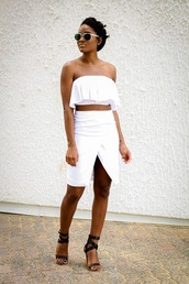 the daileigh,top,skirt,shoes,sunglasses