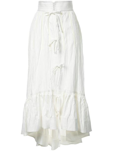 skirt midi skirt women midi white cotton