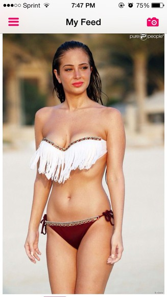white fringes beads swimwear bikini red fringe bikini native swimwear two piece