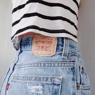 shorts jeans levis levis shorts bleu blue jeans