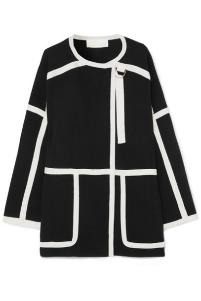 Chloe coat wool coat black wool
