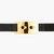 marni black elastic gold buckle waist belt