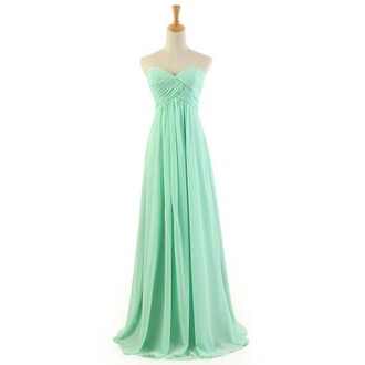 dress bridesmaid wedding mint mint dress long bridesmaid dress long chiffon dress fashion fashion dress clothes party party dress long prom dress