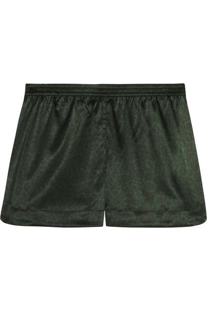 shorts pajama shorts print silk dark green f7a61858d