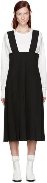 Comme Des Garçons Black Pleated Suspender Dress
