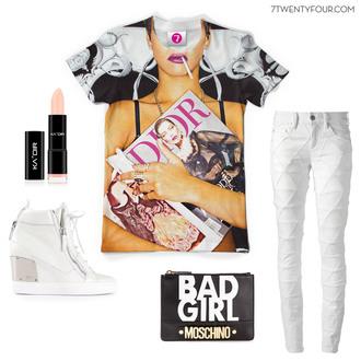 t-shirt bag dior moschino giuseppe zanotti kaoir lipstick