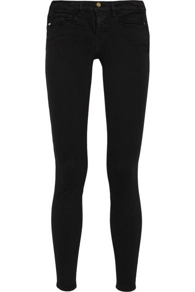frame denim le skinny de jeanne mid rise jeans