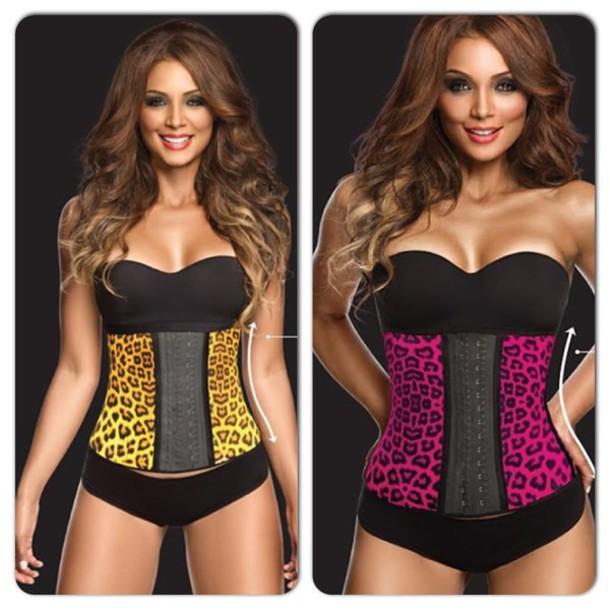 leopard print lingerie bustier