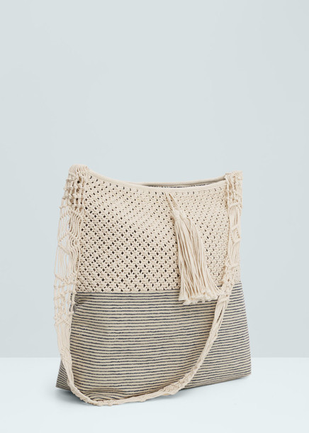 Bag: woven bag, shoulder bag, boho bag, striped bag, beach bag ...