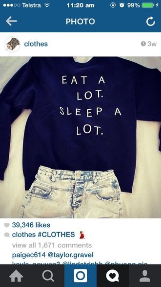 sweater black jumper sleep a lot top cardigan shorts