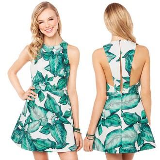leaf gorgeous green exposed flattering dress back girl